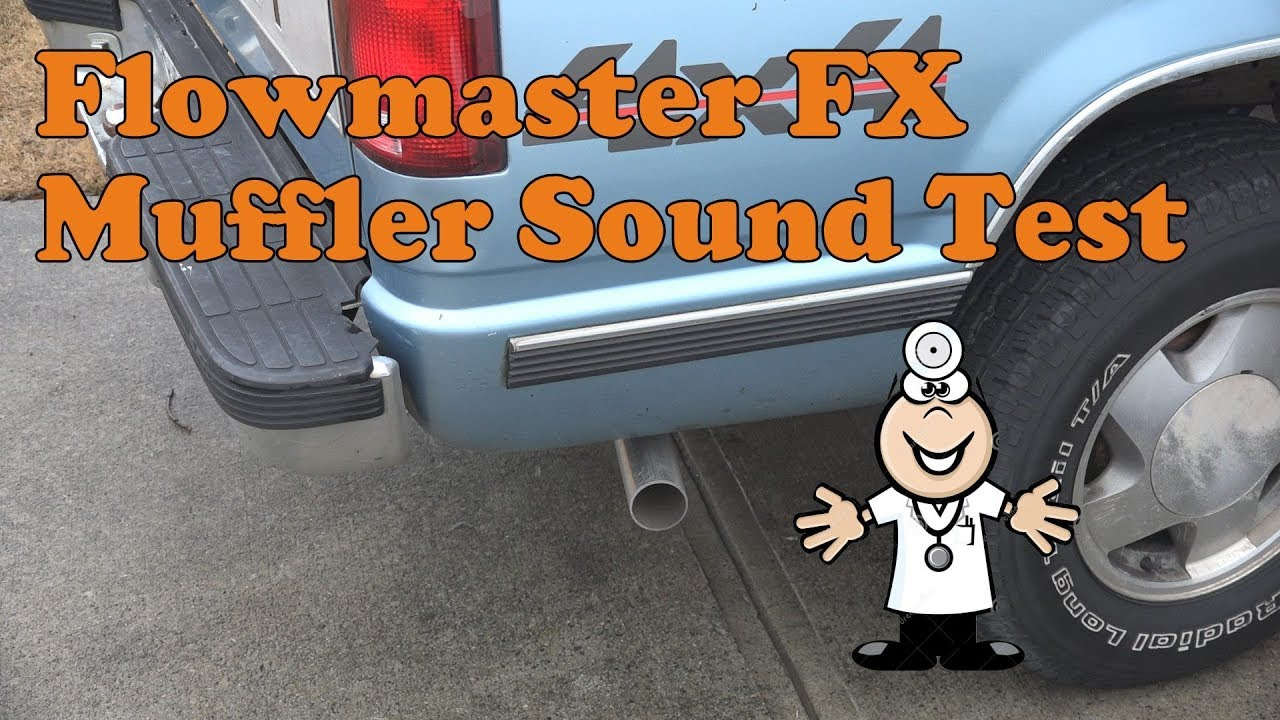 Flowmaster Fx Muffler Sound Test On A 1989 Chevy K1500 With 5 7l Youtube