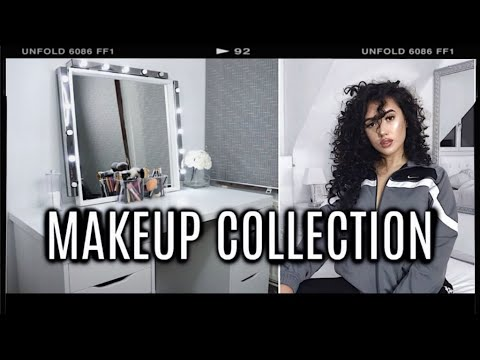 MAKEUP COLLECTION & STORAGE 2017 !! | ft. DIY Hollywood Vanity