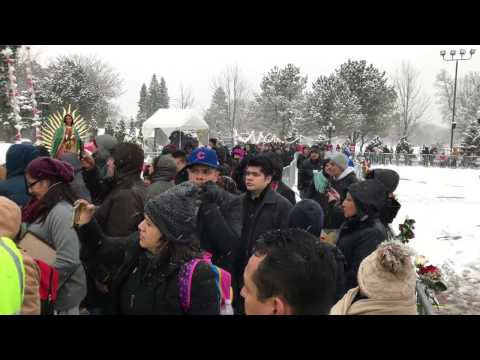 Cerrito del Tepeyac en Des Plaines, IL. December 11, 2016. 4K video.