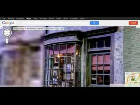 Diagon Alley in google maps - YouTube on