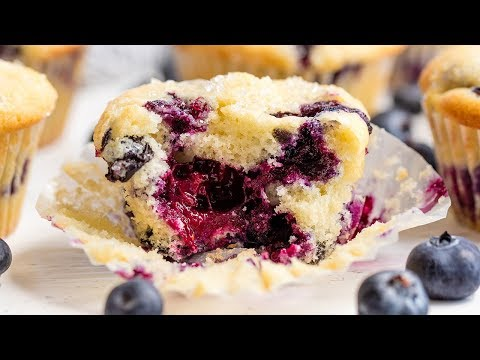 How To Make The Best Blueberry Muffins Ever! | The Stay At Home Chef
