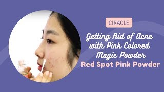 Getting Rid of Acne with Pink Colored Magic Powder   Ciracle   YesStyle Korean Beauty