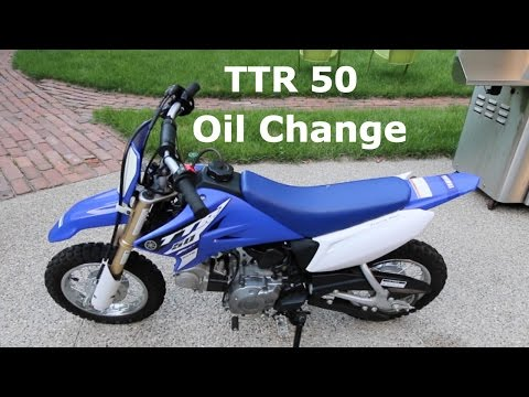 Yamaha TTR50 Dirt Bike Oil Change Tutorial