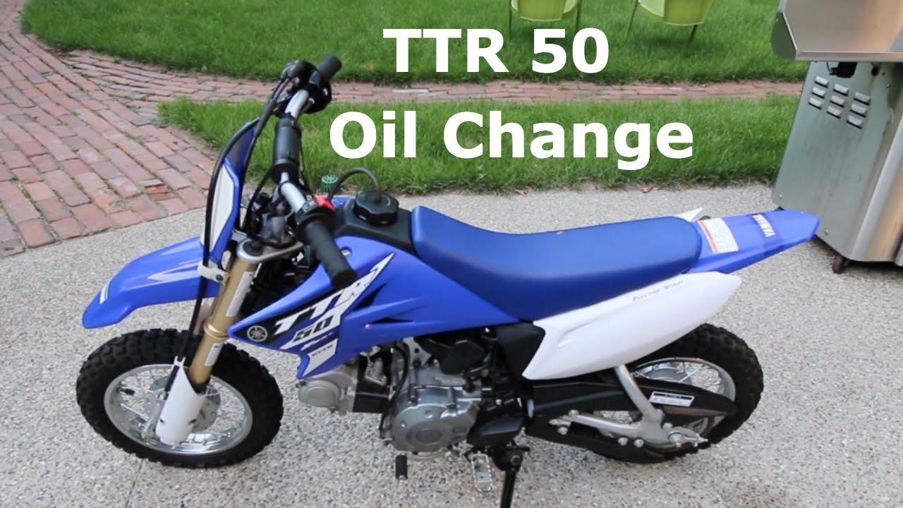 yamaha ttr50 dirt bike oil change tutorial youtube