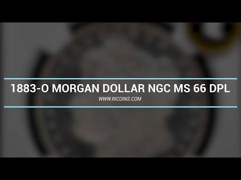 1883-O MORGAN DOLLAR NGC MS 66 DPL