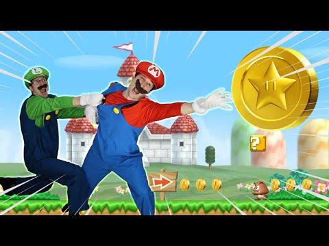 Mario VS Luigi - Coin Battle in Real Life