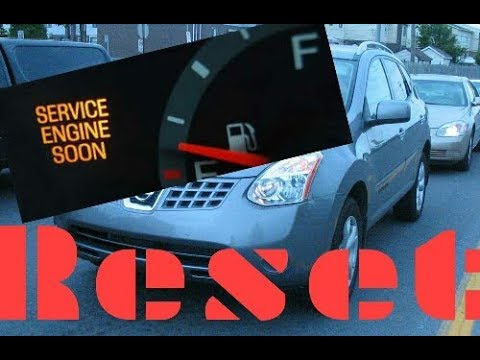 Superior How To Reset Service Engine Soon Light On A 2009 Nissan Rogue.