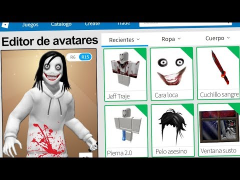 Creamos el PERFIL de JEFF THE KILLER en ROBLOX !!  Rovi23 Roblox