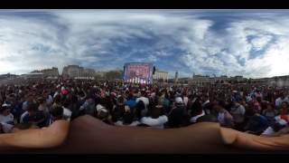 Ambiance dans la fan zone de Lyon
