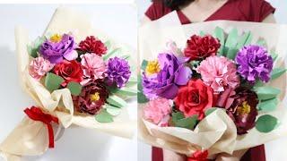 Cara membuat buket bunga dari Kertas   Ide kreatif jualan online   Diy paper flower bouquet