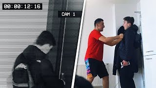 A fan broke into our flat and got assaulted... *caught on cctv*