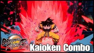 Dragon Ball fighterZ : Dlc3 Combo Goku Genkidama Kaioken [Finition Dramatic]