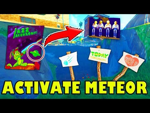 *ACTIVATED* METEOR/UFO! *NEW* POSTERS & SIGNS (Tilted Towers) Fortnite Battle Royale