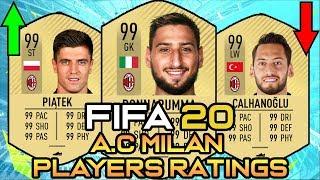 FIFA 20 |A.C MILAN PLAYERS RATINGS PREDICTIONS| FT.Donnarumma,Piątek,Çalhanoğlu...