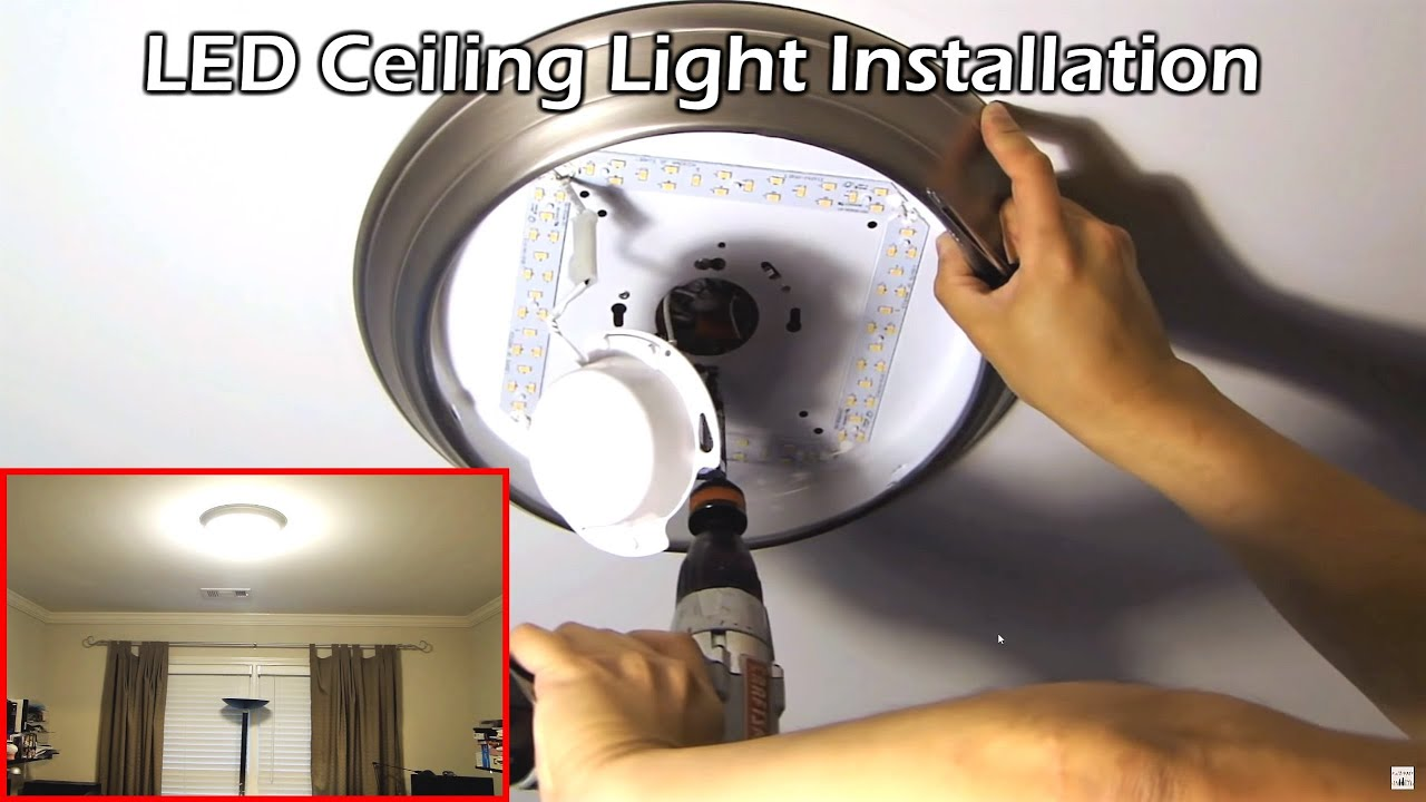 Install 14 Quot Led Ceiling Light Youtube
