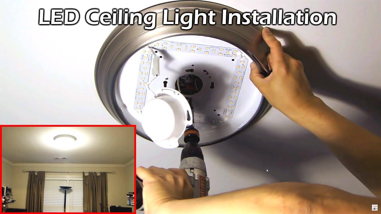 """Install 14"""" LED Ceiling Light - YouTube"""