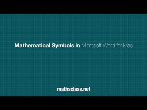 Mathematical Symbols In Microsoft Word For Mac