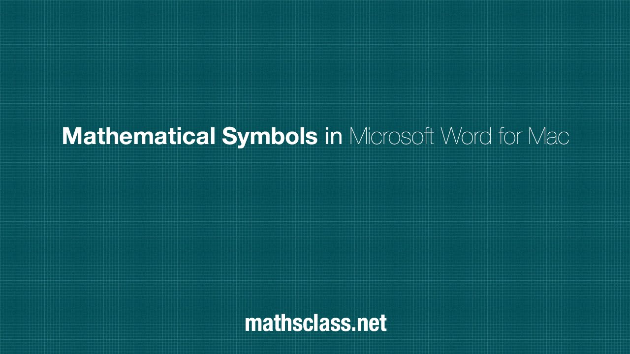 Mathematical symbols in microsoft word for mac youtube biocorpaavc Images