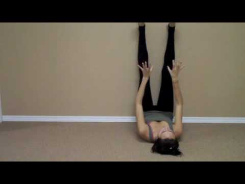 legs up the wall increase circulation and gain energy from