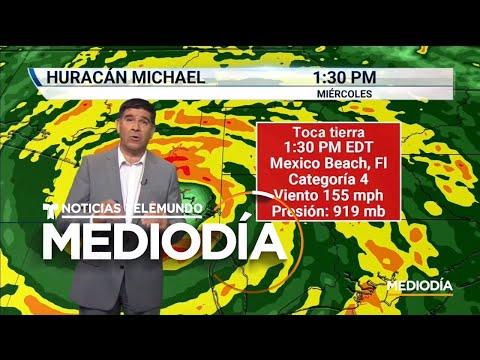 Trayectoria del huracán Michael tras tocar tierra en Mexico Beach, FL | Noticiero | Telemundo