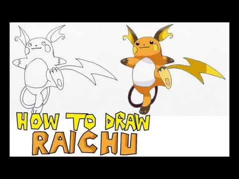 How to draw Raichu (Step by step) – Pokemon   Hướng dẫn vẽ Raichu trong Pokemon