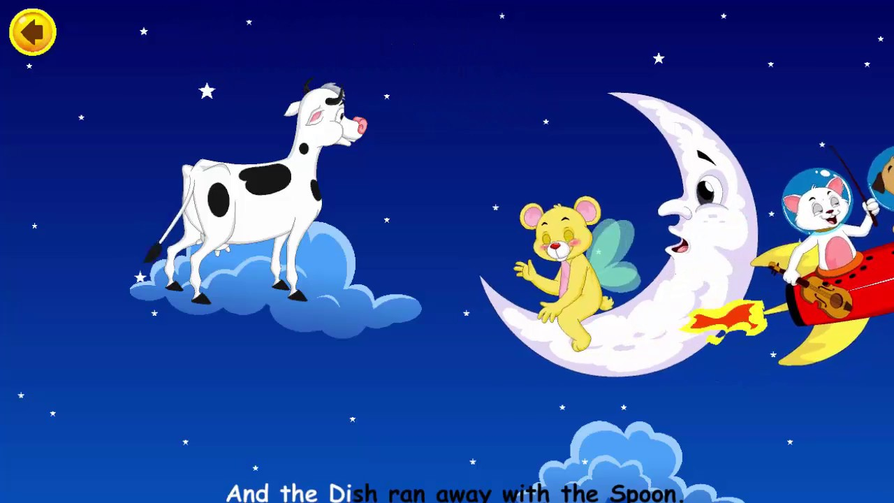 Hey Diddle Nursery Rhymes Kids Songs Babies The Cow Jumped Over Moon
