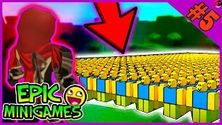 1 PRO VS AN ARMY OF NOOBS?! Roblox Epic Minigames #5