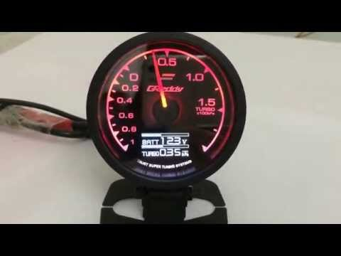 Test Taiwan Made Greddy Turbo Boost Gauge by a Pump (US $35 Only)
