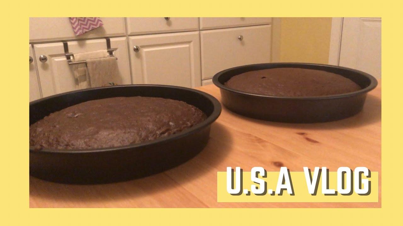 [미국일상 VLOG] 생일케이크 굽다 망한 브이로그 | 국제커플 | 일상 | Baking a Birthday Cake for husband