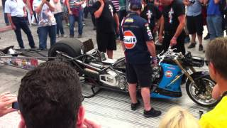 Puma Gulf Drag Bike Revving - Goodwood Festival of Speed 2015