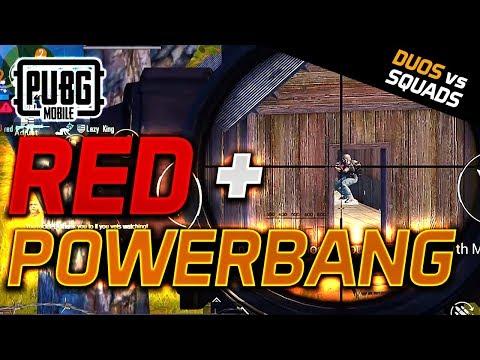 POWERBANG & RED - DUO Vs SQUADS - PUBG Mobile