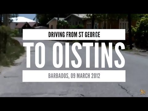 Driving from St George to Oistins Barbados, 09 March 2012
