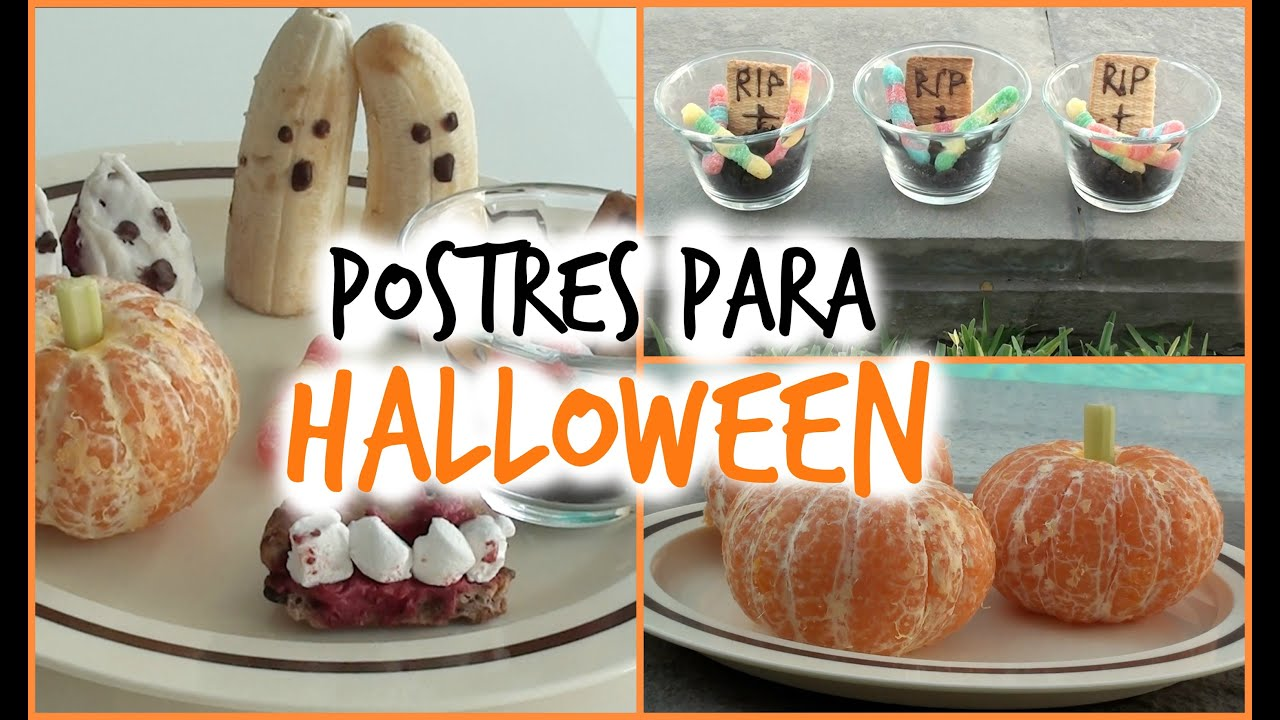 Diy postres faciles y ricos para halloween lascholas for Postres faciles