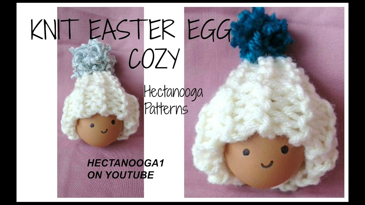 How to KNIT EASTER EGG COZY HATS, Free knitting pattern # 1153 - YouTube