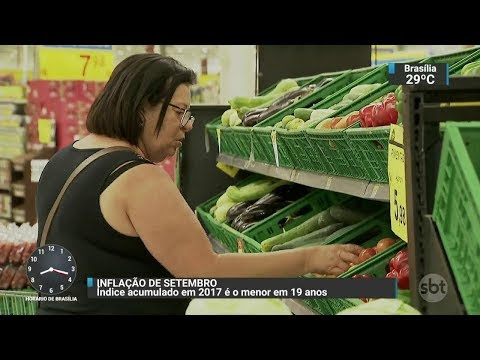 Inflação tem alta de 0,16% em setembro | SBT Brasil (06/10/17)