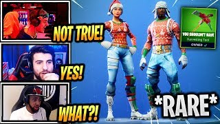 STREAMERS REACT 'RARE' NOG OPS - YULETIDE RANGER SKINS BACK! - Fortnite Epic - Moments drôles