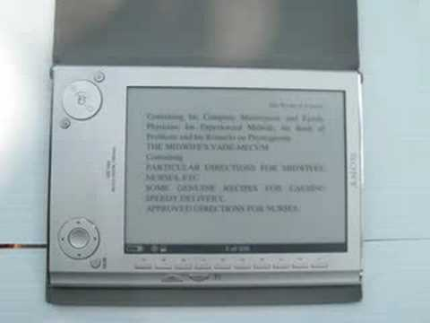 """Sony E-Book Reader--Provides Some Visually Impaired With """"Big Print"""" Books."""