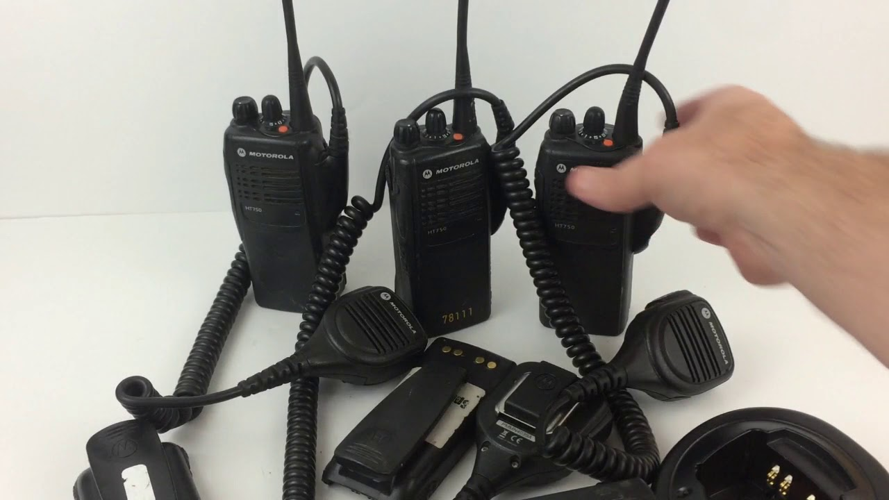 motorola ht750. motorola ht750 - lot of 3 radios demo for ebay ht750