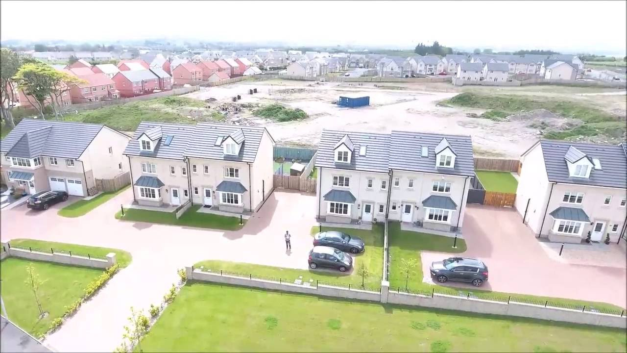 Amazing drone footage brand new housing development for Garden offices for sale scotland