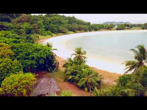 Singapore drone over St John's island