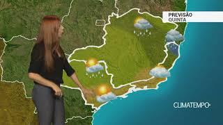 Previsão Sudeste - Mais chuva para MG e o ES