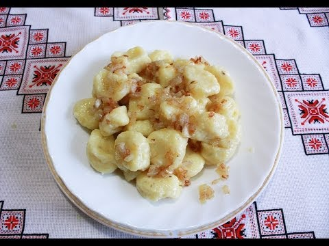 Ленивые вареники рецепт с картошкой Клецки рецепт Кльоцки з картоплі постные блюда Клёцки