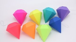 How To Make A Origami Paper Diamond Easy-DIY Simple Origami Diamond Tutorial
