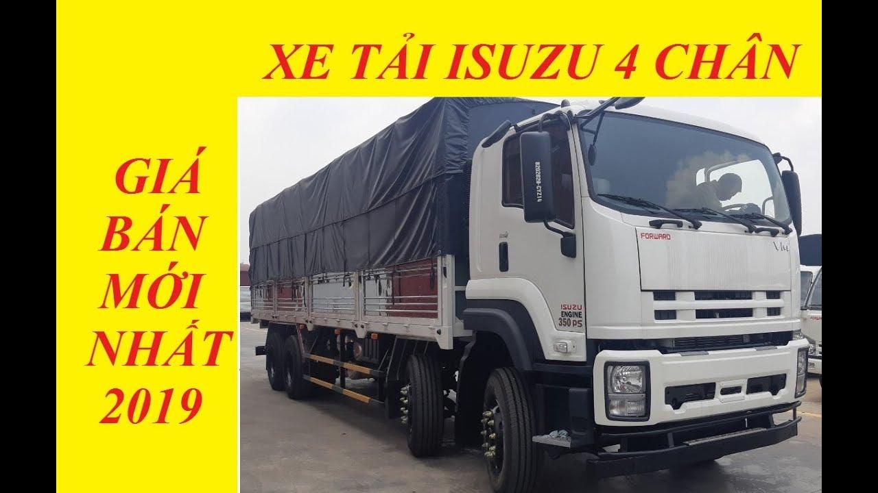 Giá xe tải isuzu 4 chân - isuzu 18 tấn thùng bạt mới nhất