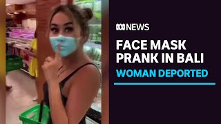 Russian influencer deported from Bali after fake face mask prank ABC News