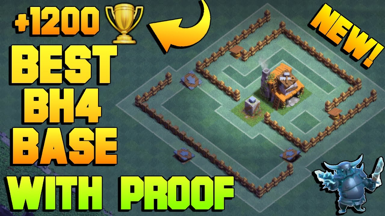Best Builder Hall 4 Base W Proof Bh4 New Anti 1 Star Coc