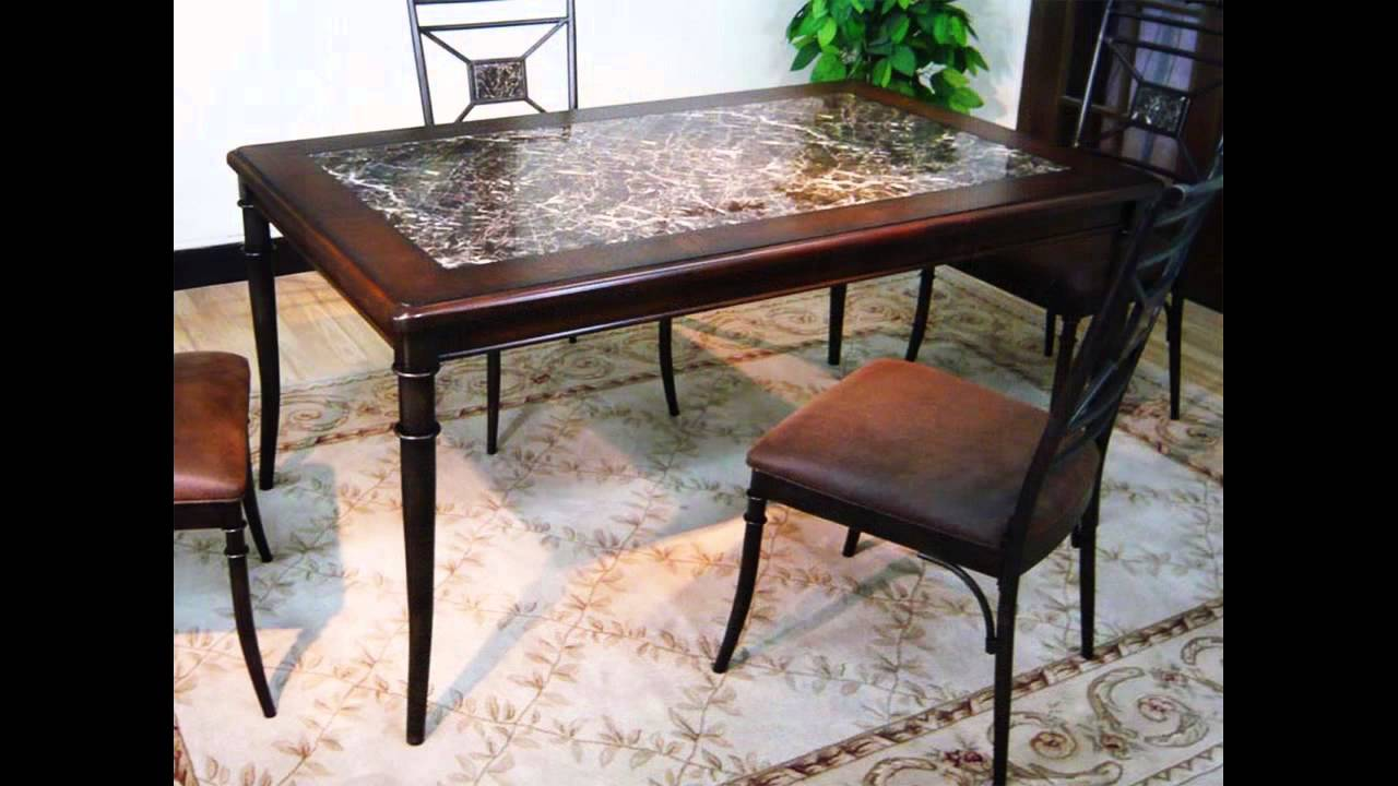 granite top dining room table youtube. Black Bedroom Furniture Sets. Home Design Ideas