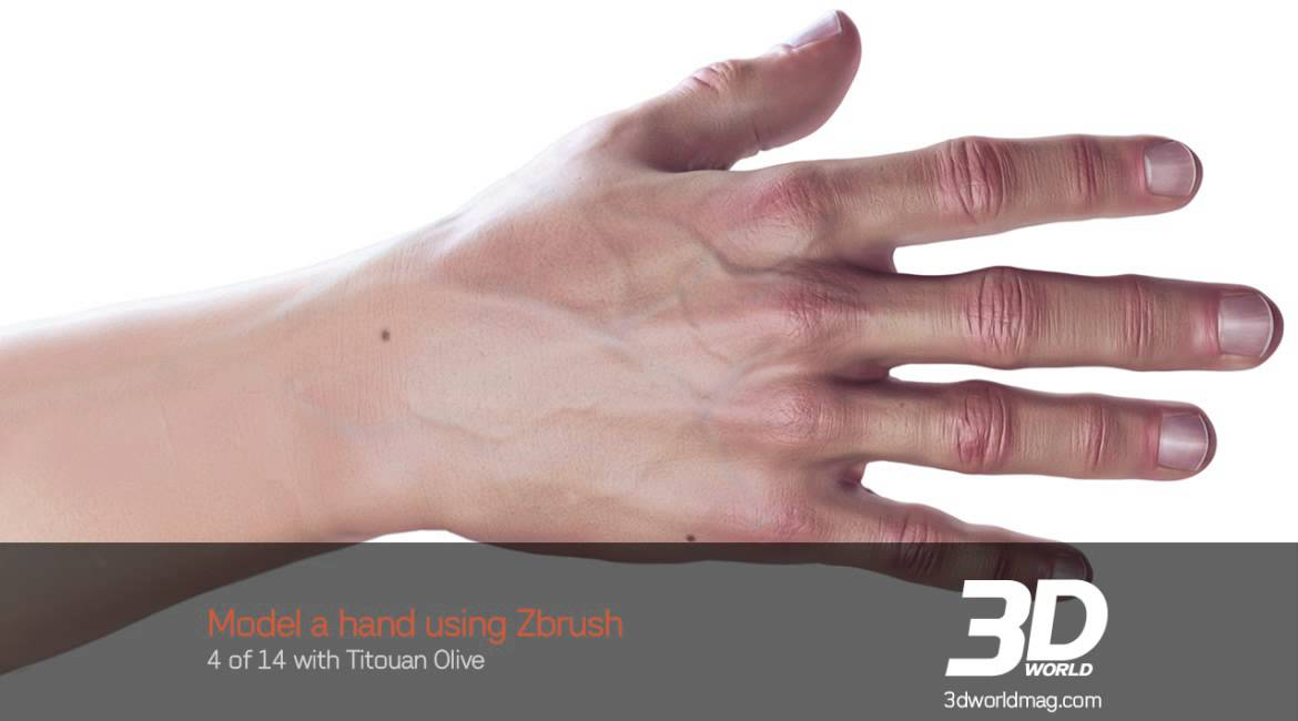 How to sculpt a detailed 3D hand