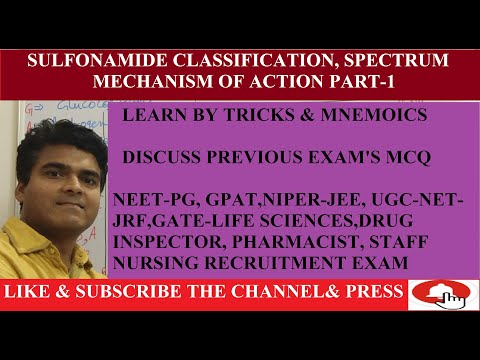 sulfonamide-pharmacology -classification-learn-by-tricks- -mechanism-of-action -spectrum--part-1