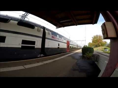 Die Bahnstation von Neuenhof (Aargau)
